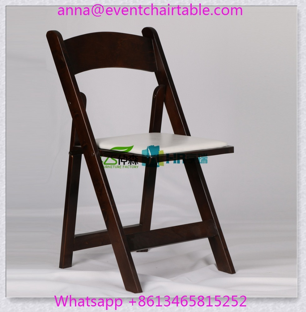 Brown Color Hotel Event Banquet Folding Padded Seat Wedding Chair