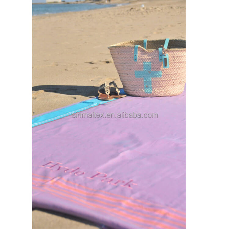 Christmas holiday promotion FOUTA / Custom design yarn dyed Spanish PAREO TOWEL/ Color stripes PESTEMAL bech towel