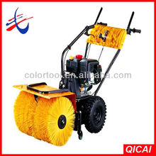 electric start gas powered snow sweeper