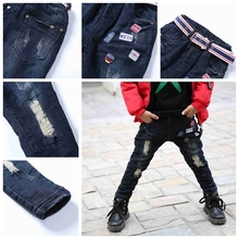 Young Boy Leisure Economic Children Jeans Pent