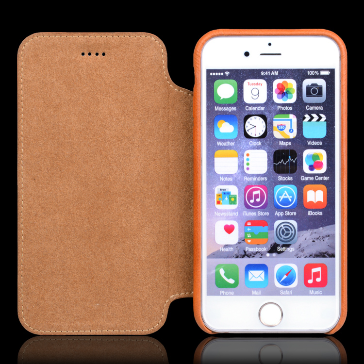 Best Quality Guangzhou Factory Fashion Cell Phone Accessories Real Leather Phone Case for Iphone 7 Case