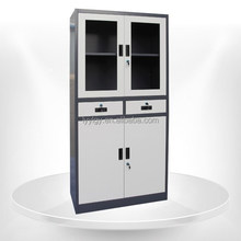 Metal cupboard school supply display cabinet yulong steel furniture