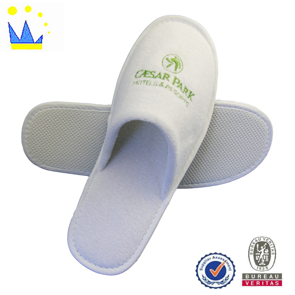 embroidery terry hotel slipper machin make hotel slipper