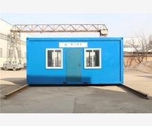 fireproof fast food kitchen container house with solar water heat
