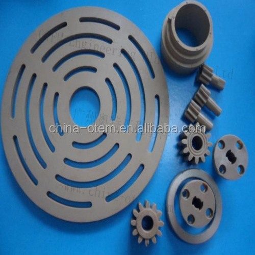 Custom plastic valve plate use PEEK engineering plastic material