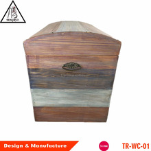 Big volume plastic liner insulated wooden cooler box