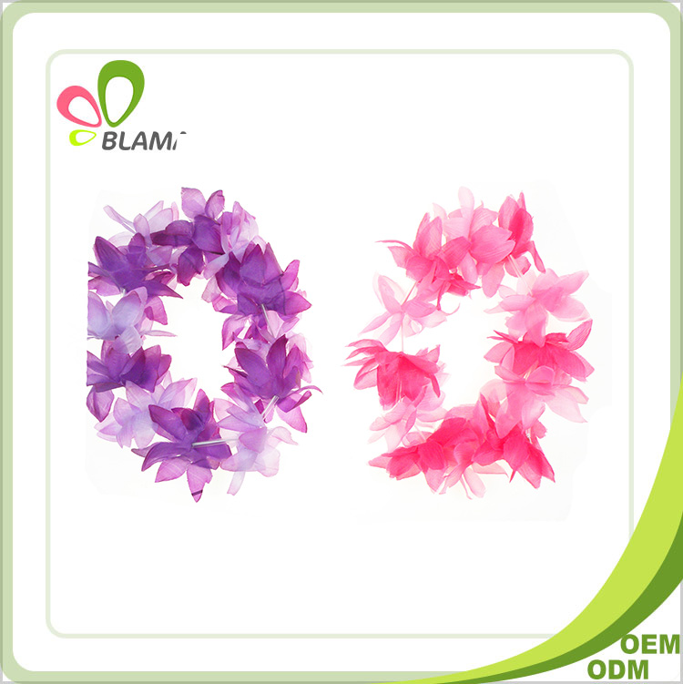 Colorful Party Hawaiian wholesale promotion artificial flower lei