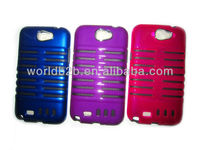 New Fashion 2 in 1 Microphone design TPU + PC Case For Samsung Galaxy note 2/N7100,PC & TPU combo design