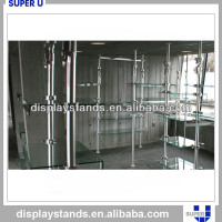 retail store wall mounted glass wall display case