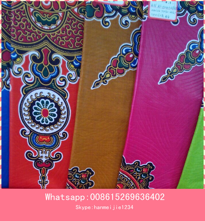 New design real visco wax print fabric with best quality and low price