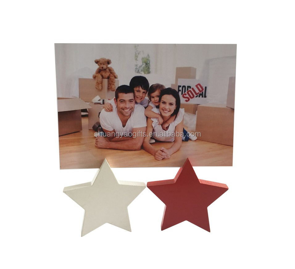 Chrismtas Wooden mini free decoration on topdesk gifts for home decorative to baby star memo piece holder for xmas
