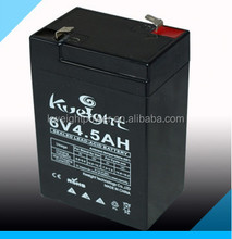 Sealed lead acid 6v4.5ah 20hr rechargeable battery