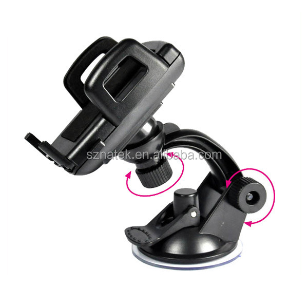 3.5 4.7 5.5 inch arc and long arm clip automotive front windshield suction cup phone stent mount