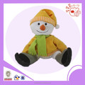 Christmas snow plush toys ,snow candy bag with hat toys