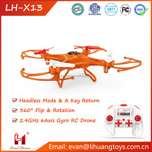 Best Quality Toys LH-X13 2.4G 4CH 6 Axis Built-in Gyro 3D Flip Flying RC Quad Copter Toys with Auto Return Quad Copter for Kids