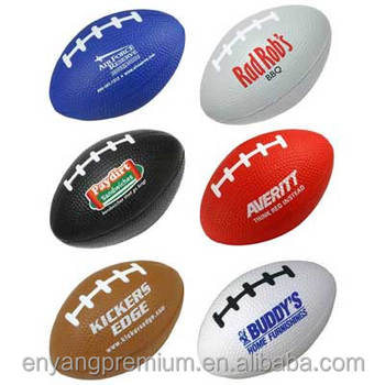 American foot ball rugby color chage stress ball 80*50*53mm PU foam stress ball