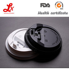 low price plastic ps hot drink lid coffee lid with safety lock