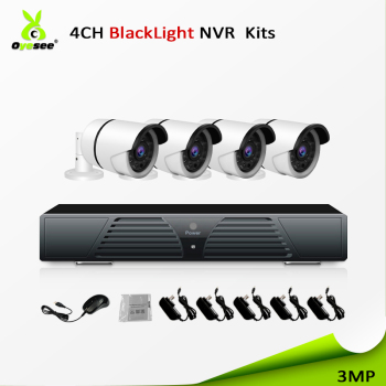2018 New technology security cctv 4ch 3mp starlight ip camera nvr kits ir vision night 30m free onvif p2p for exporting