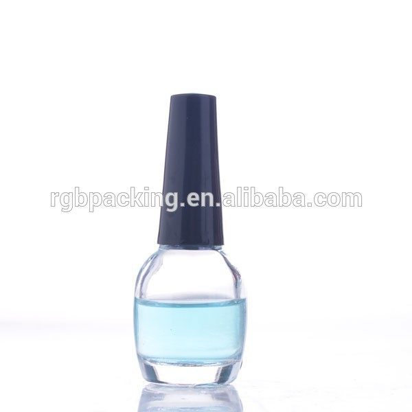 clear transparent high quality new design empty water based nail polish bottle