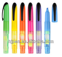 2013 New Style Eco Plastic Multi Colored Highlighter Pen