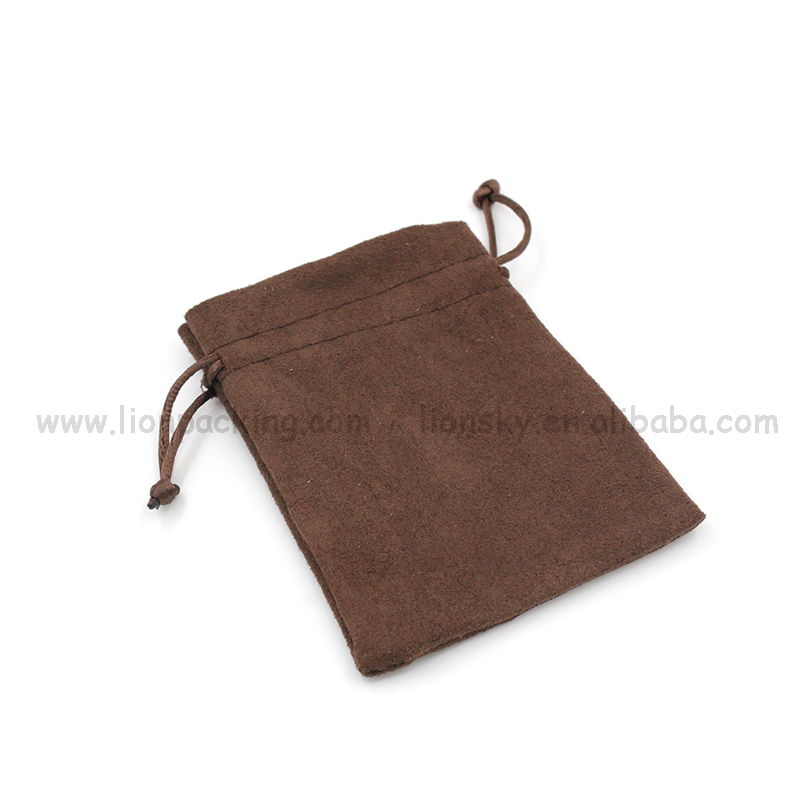 Stylish small drawstring candy suede bag