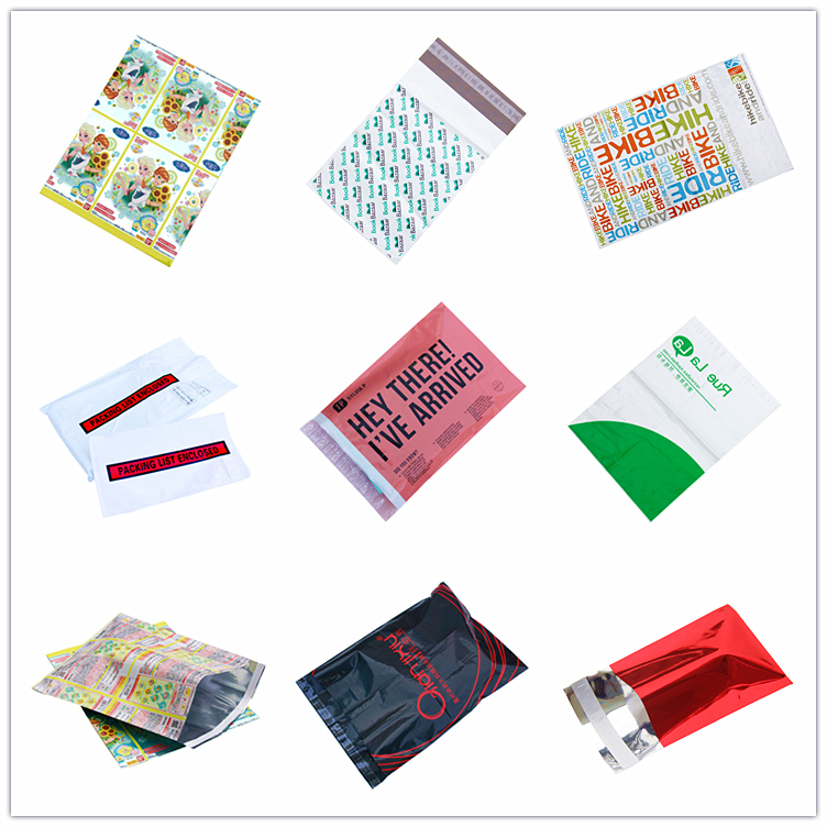 Plastic decorative custom poly mailer bag custom envelope,self seal shipping polymailer bags custom