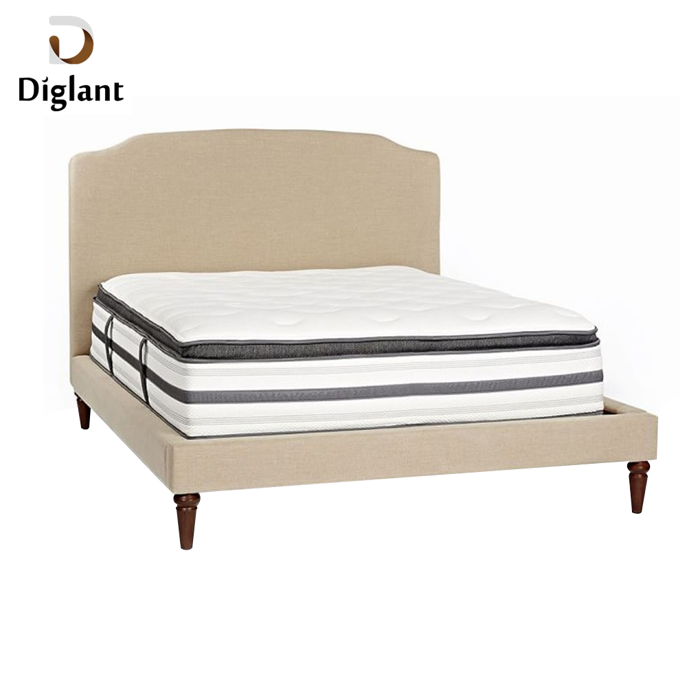 DM039 Diglant Gel Memory Latest Double Fabric Foldable King Size Bed Pocket bedroom furniture double camping mattress - Jozy Mattress | Jozy.net