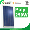 High efficiency poly 250w solar kit for solar garden lighting/anodized aluminum solar panel frame