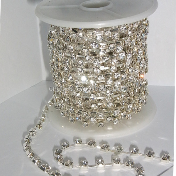 factory dirrectly sales ss16 crystal rhinestone cup chain by yard