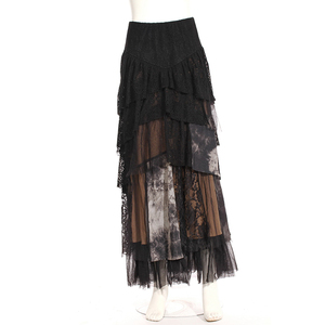 Women Hot Sale Long Skirts Gothic Layer Dress Design Punk Rave Free Size