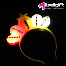 creative led heart shaped party flashing hair band