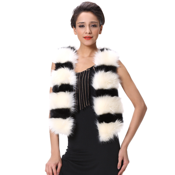 Top Quality Korean Style Sexy Girls Womens Long Hair Vest Coats