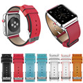 High Quality Dual Color Genuine Leather Watch Band for Apple Watch 38mm/42mm