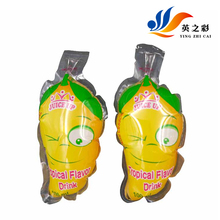 2017 cheap lovely printing stick tub clear plastic bag with customized logo beverage bag