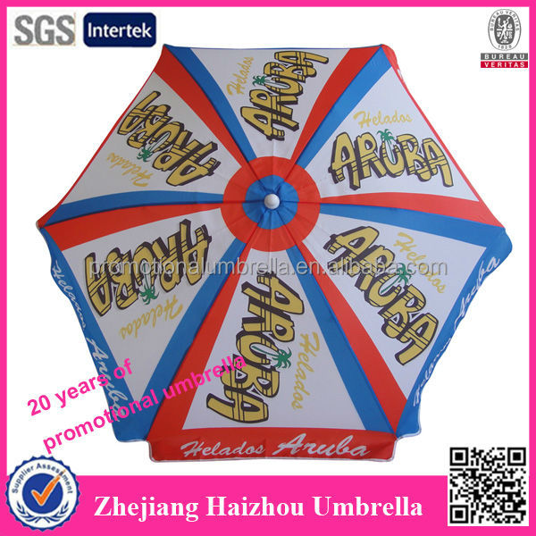 6 panel full color printing promotional parasol umbrella
