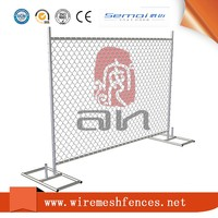 Galvanized Temporary Chain Link Fence Panels / Portable Event Fencing For sale