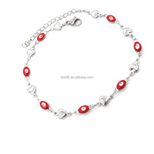 Hand Made 2017 Stylish Stainless Steel Religious Christ Turkey Kabbalah Evil Eye Glass Bracelet Beads Nazar Turkish Jewelry
