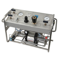 Water Borehole Manual CO2 Gas Booster Pressure Testing Pump