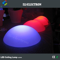 Party decor plastic led half sphere lights