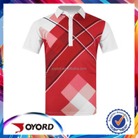 Casual no fading printed cheap golf shirts in 2015 Summer