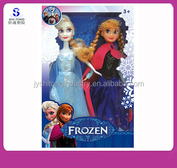 Wholesale Frozen Doll Sparkle Princess Anna and Magic Frozen Elsa Doll Set