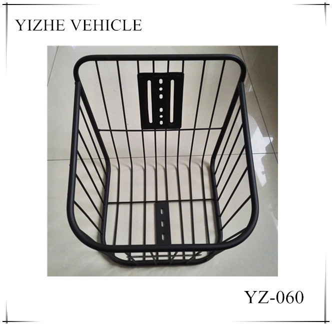 2016 china factory bicycle front basket / front steel basket