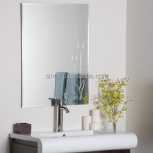 Polished Edge Unframed Silver Wash Basin Mirror Glass Toilet Mirror for Family