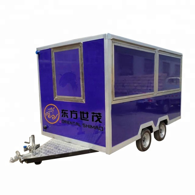 New fashion food truck mobile food trailer