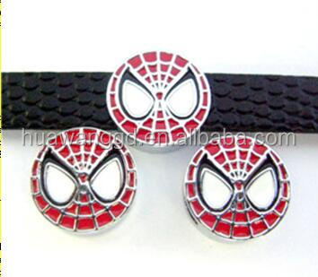 8mm spiderman slide charm for diy jewelry making