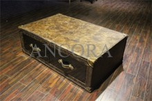 full leather covered coffee tea table L927