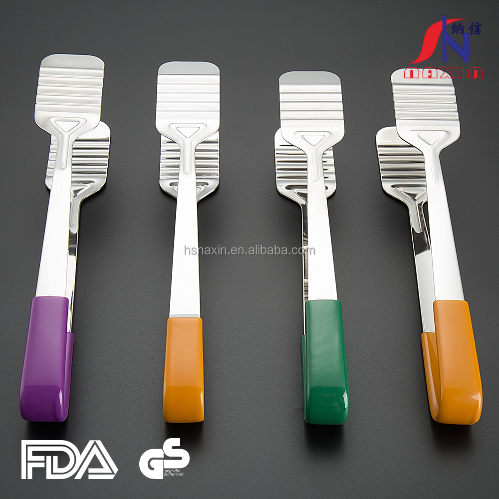 Hot sale stain-resistant stainless steel fancy silicone tong