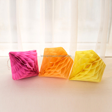 Yellow christmas decorations tissue paper honeycomb ball for kids party