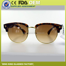 Novel framework for modelling, leopard half box, golden edge, elegant fashion, the unique individuality sunglasses