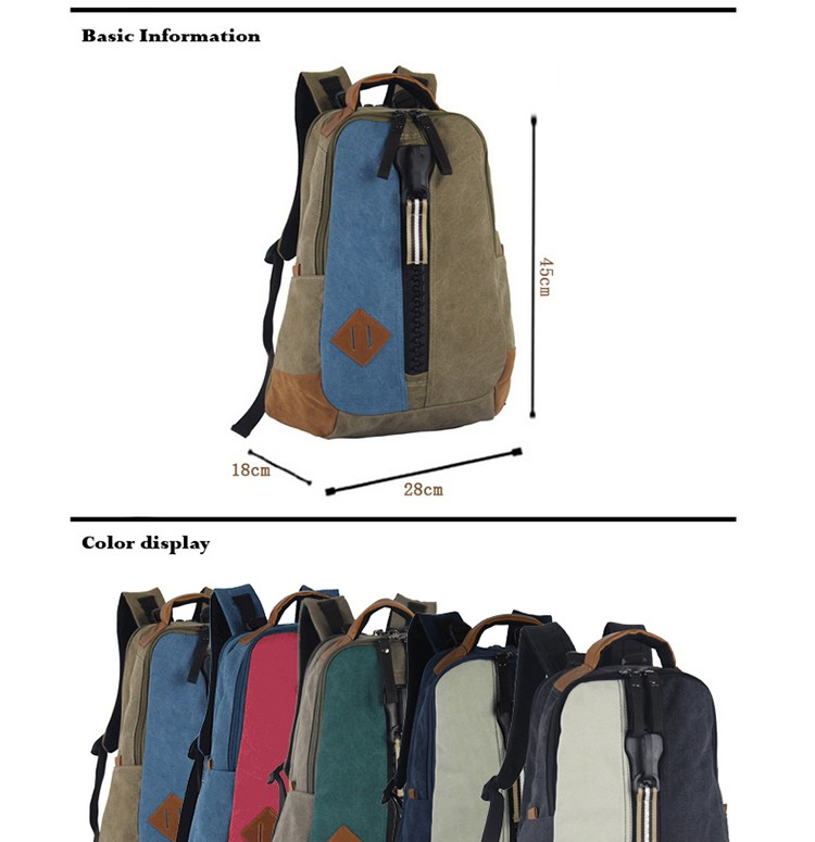 High quality canvas backpacks guangdong knapsack cheap school campus school bags backbags canvas made in China